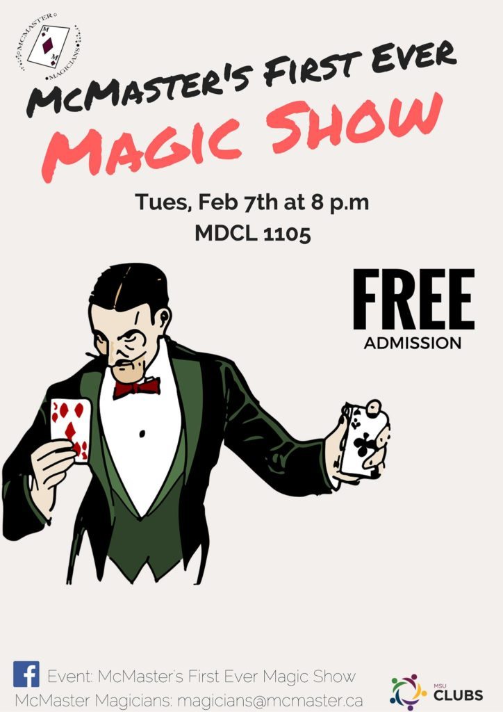 McMaster's Magic Show poster