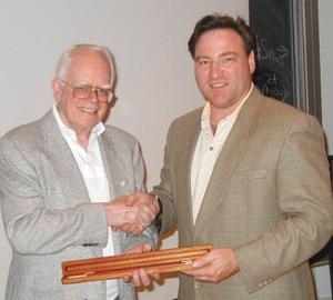Al receiving an award